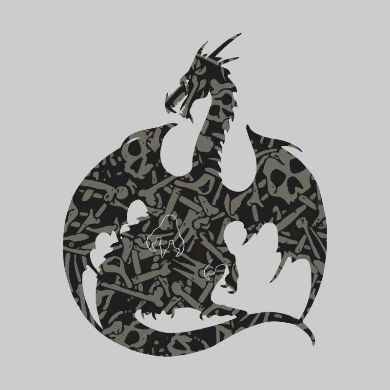 Necromancy Dragon Silhouette Men's T-Shirt by Ferine Fire