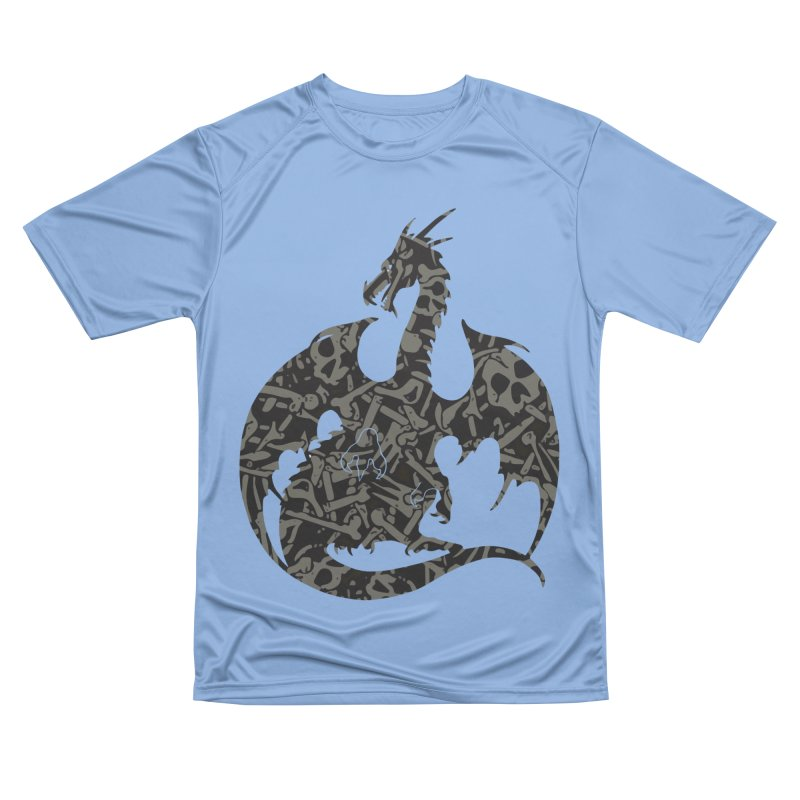 Necromancy Dragon Silhouette Men's Performance T-Shirt by Ferine Fire