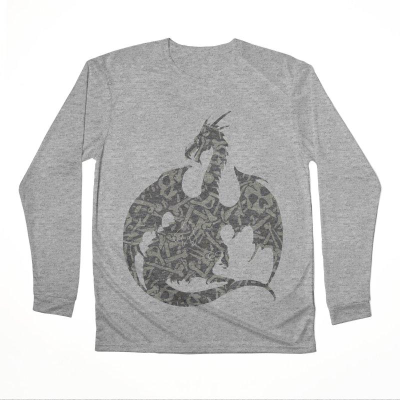 Necromancy Dragon Silhouette Women's Performance Unisex Longsleeve T-Shirt by Ferine Fire