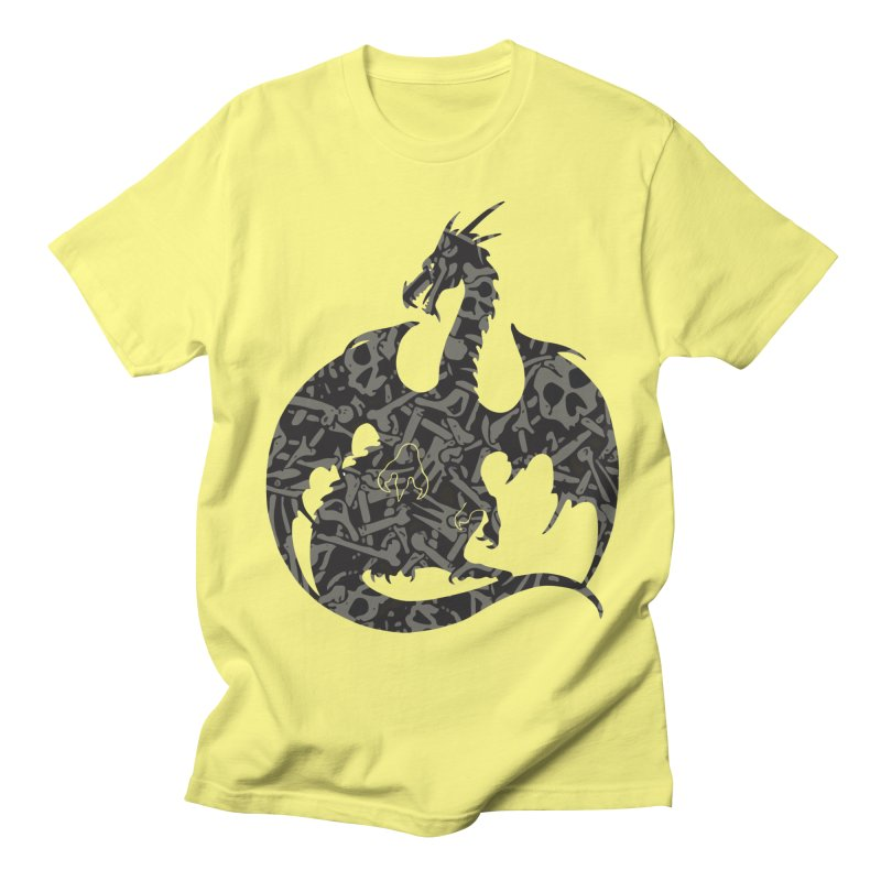 Necromancy Dragon Silhouette Men's T-Shirt by Ferine Fire