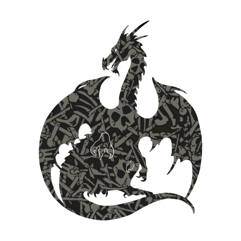 Necromancy Dragon Silhouette   by Ferine Fire