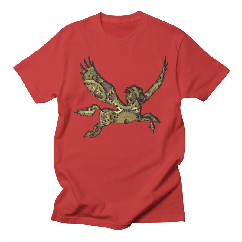 Clockwork Pegasus Men's T-Shirt by Ferine Fire