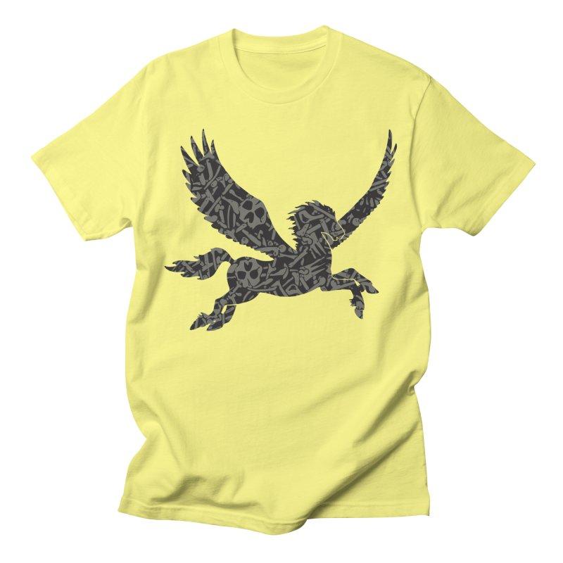 Dark Horse Pegasus Men's T-Shirt by Ferine Fire