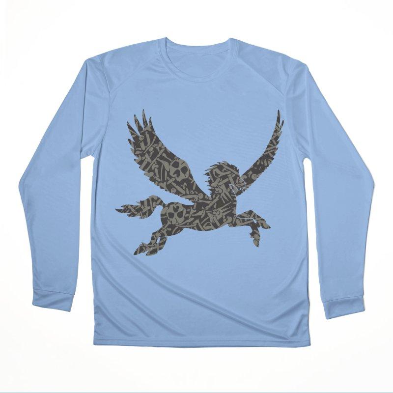 Dark Horse Pegasus Women's Performance Unisex Longsleeve T-Shirt by Ferine Fire