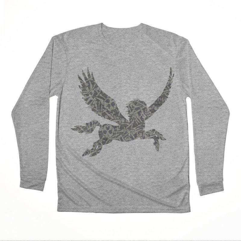 Dark Horse Pegasus Men's Performance Longsleeve T-Shirt by Ferine Fire