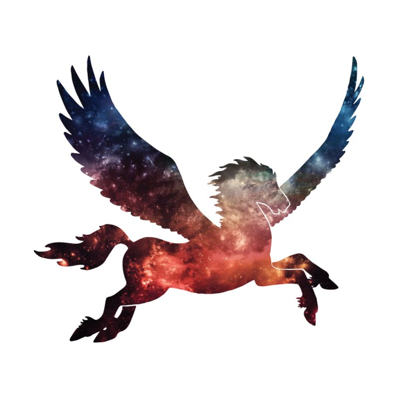 Galaxy Pegasus Men's T-Shirt by Ferine Fire