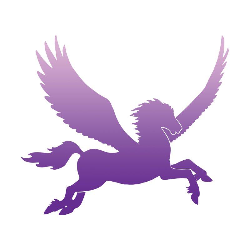 Purple Pegasus Silhouette   by Ferine Fire