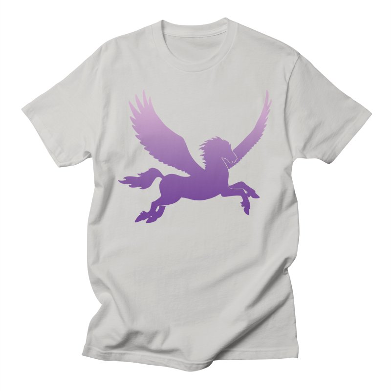 Purple Pegasus Silhouette Men's T-Shirt by Ferine Fire