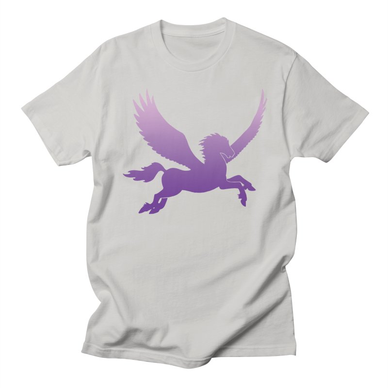 Purple Pegasus Silhouette Men's T-Shirt by Ferine Fire