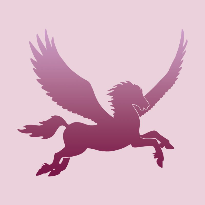 Pink Pegasus Silhouette Men's T-Shirt by Ferine Fire