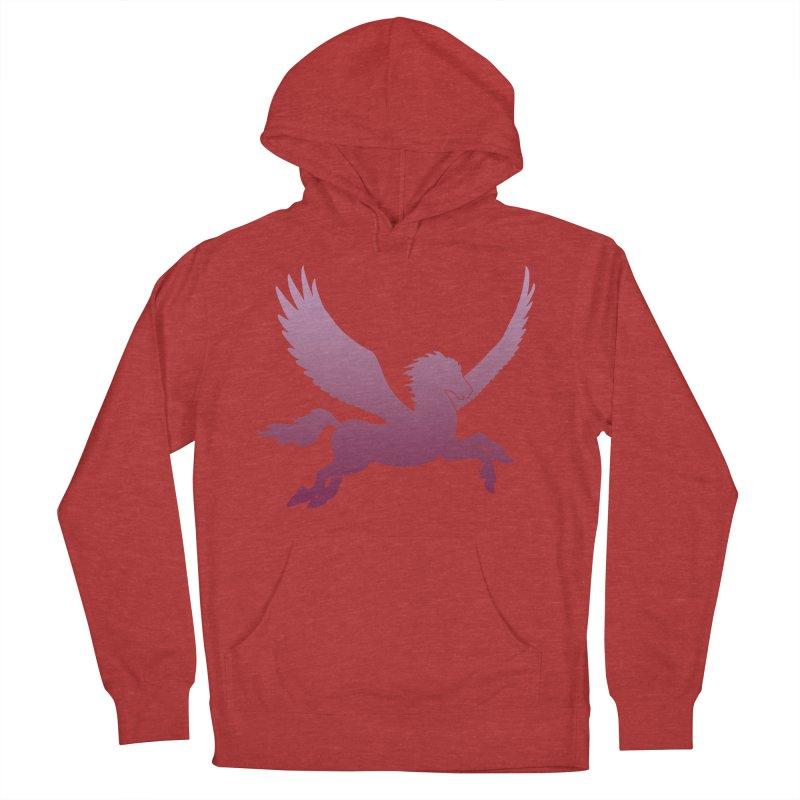 Pink Pegasus Silhouette Men's Pullover Hoody by Ferine Fire