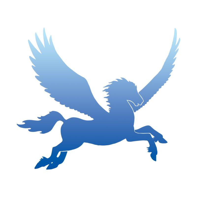 Blue Sky Pegasus Silhouette   by Ferine Fire