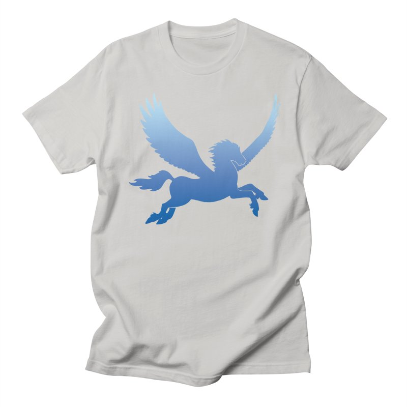 Blue Sky Pegasus Silhouette Men's T-Shirt by Ferine Fire