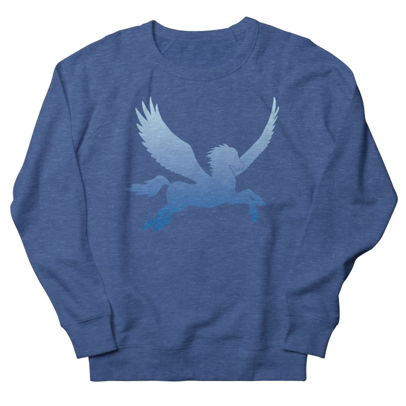 Blue Sky Pegasus Silhouette Men's Sweatshirt by Ferine Fire