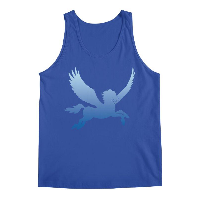 Blue Sky Pegasus Silhouette Men's Tank by Ferine Fire