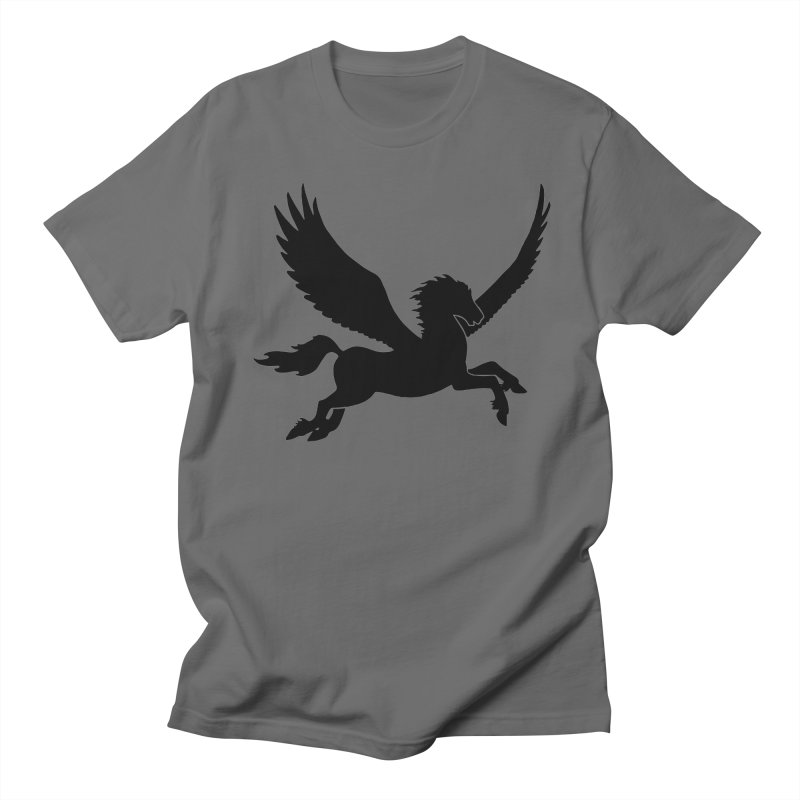 Pegasus Silhouette Men's T-Shirt by Ferine Fire
