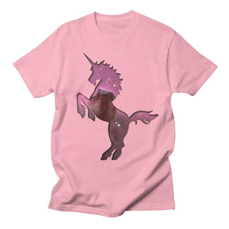 Horsehead Nebula Unicorn Men's T-Shirt by Ferine Fire