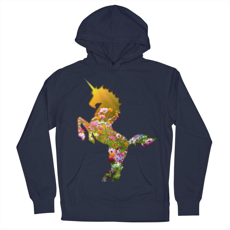 Field of Flowers Unicorn Men's Pullover Hoody by Ferine Fire
