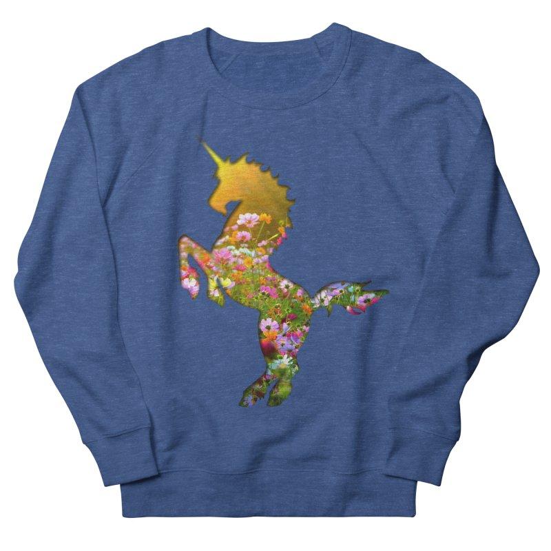 Field of Flowers Unicorn Men's Sweatshirt by Ferine Fire
