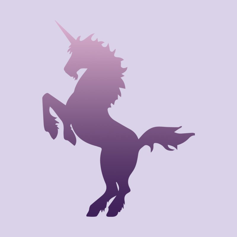 Purple Unicorn Silhouette Men's T-Shirt by Ferine Fire