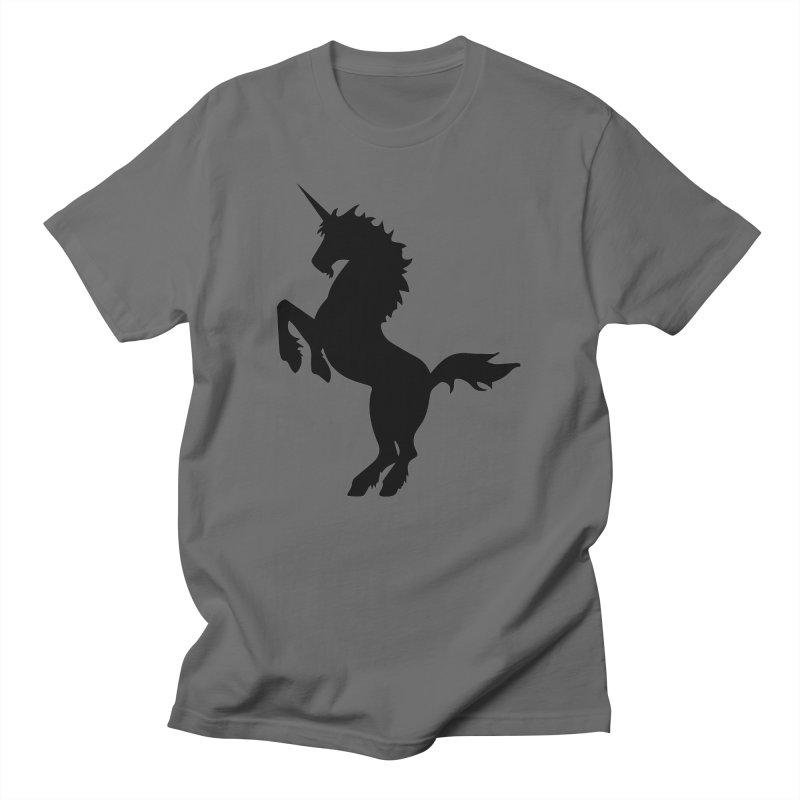 Unicorn Silhouette Men's T-Shirt by Ferine Fire