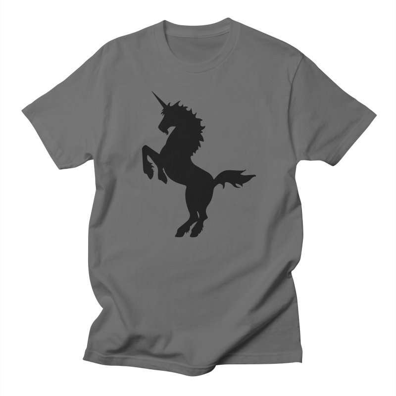 Unicorn Silhouette Men's T-Shirt by Ferine Fire