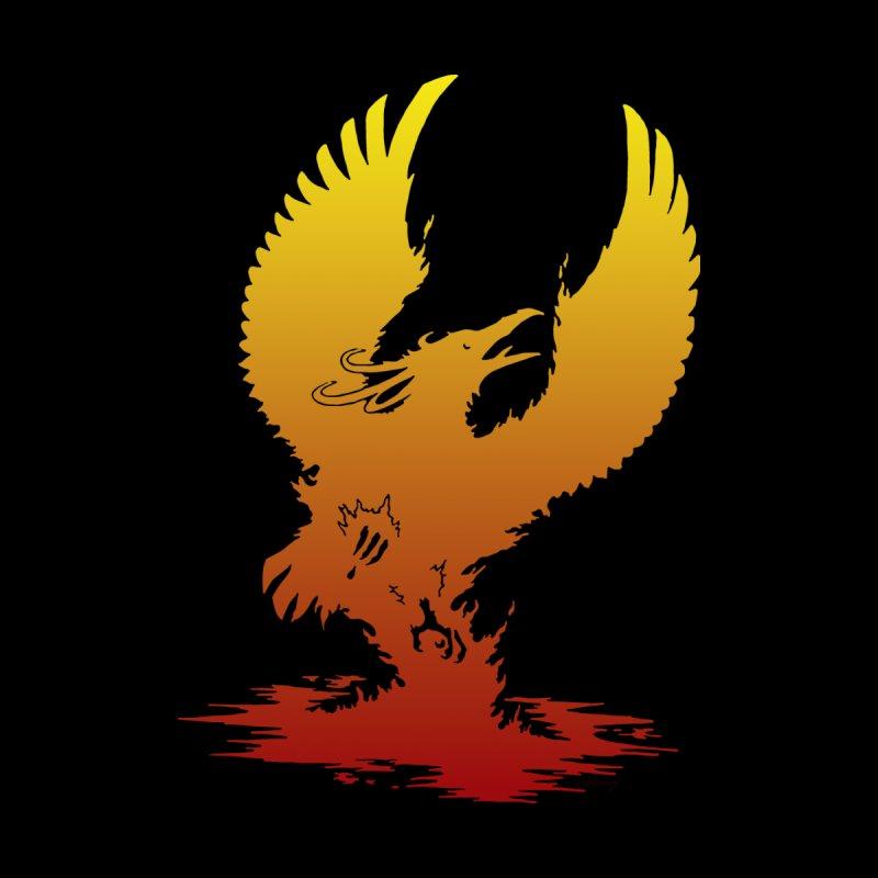 Phoenix Silhouette - Orange & Red by Ferine Fire