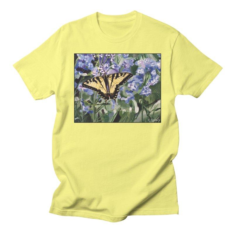 Yellow Swallowtail Butterfly Men's T-Shirt by Ferine Fire