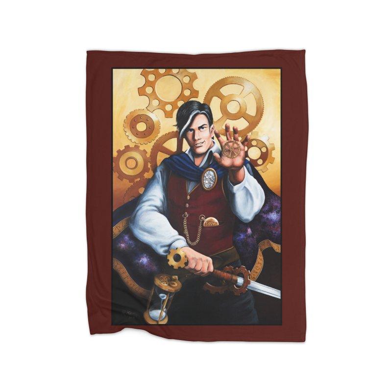 Chronomancy in Fleece Blanket Blanket by Ferine Fire