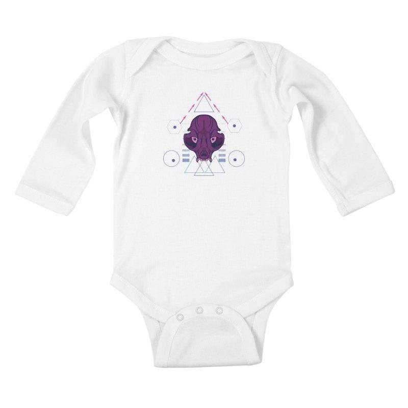 Purple Chumplung Kids Baby Longsleeve Bodysuit by feringrh's Artist Shop