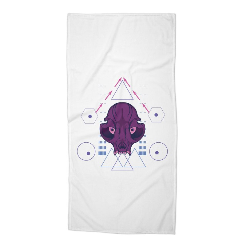 Purple Chumplung Accessories Beach Towel by feringrh's Artist Shop