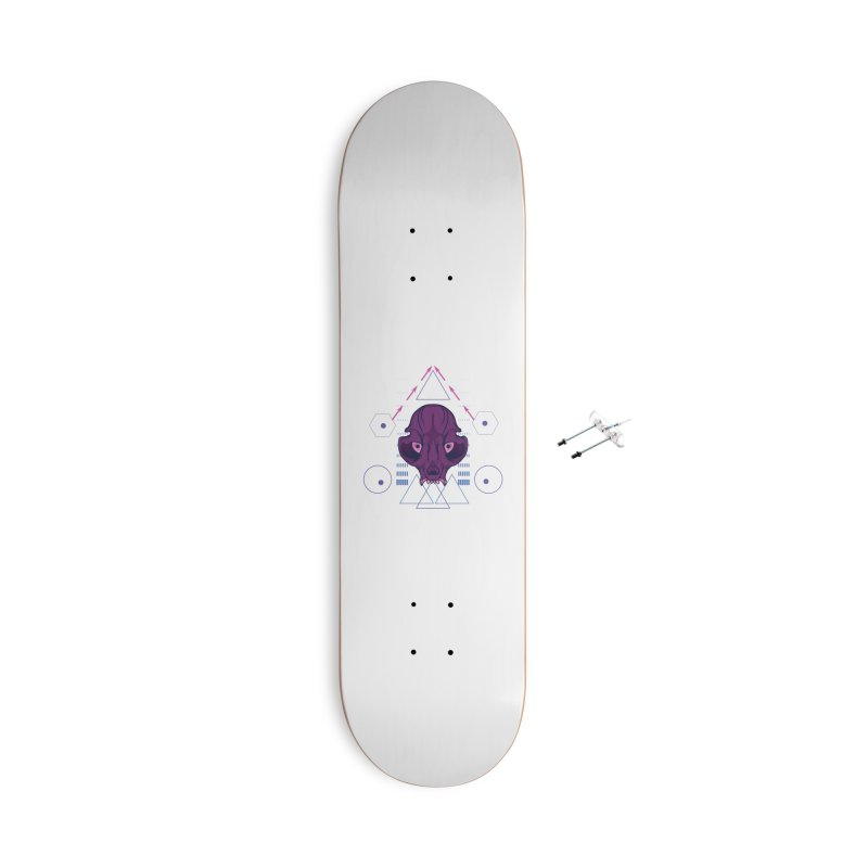 Purple Chumplung Accessories With Hanging Hardware Skateboard by feringrh's Artist Shop