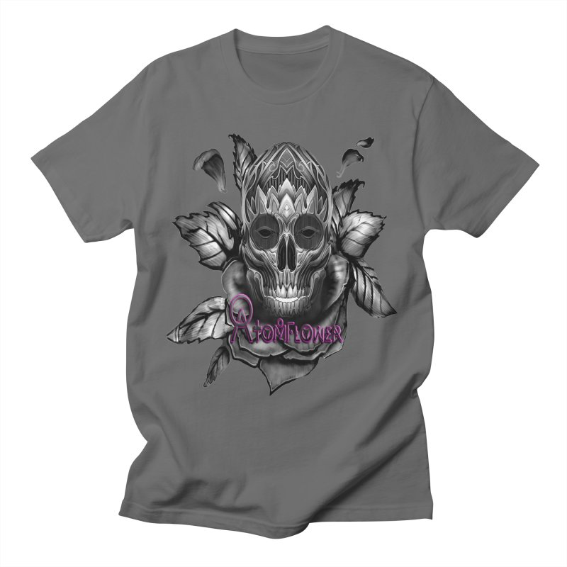 Atomflower - Skull Flower Design Merchandise Men's T-Shirt by fever_int's Artist Shop