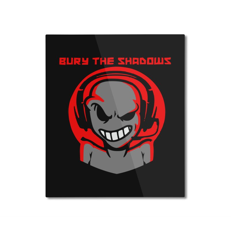 Bury The Shadows-Martian Home Mounted Aluminum Print by fever_int's Artist Shop