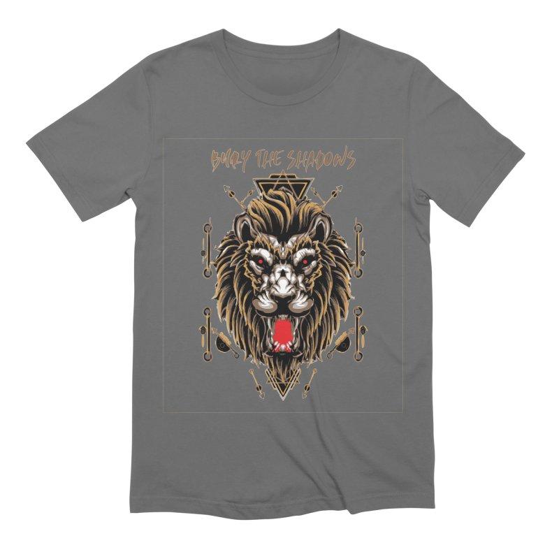 Bury The Shadows Gold Lion Men's T-Shirt by fever_int's Artist Shop