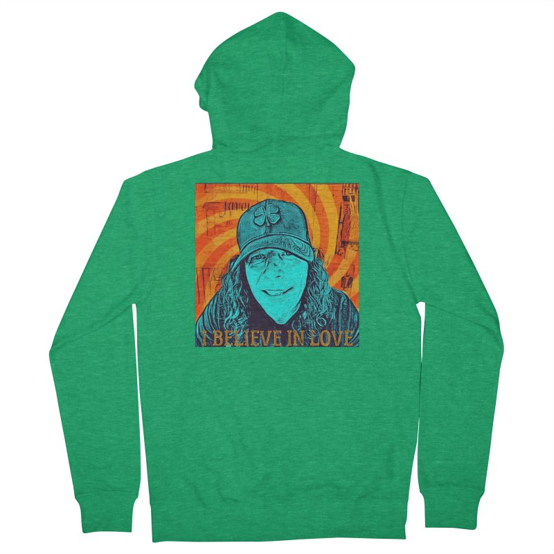 TOMMYGUNN - I BELIEVE IN LOVE - Style A Men's Zip-Up Hoody by fever_int's Artist Shop