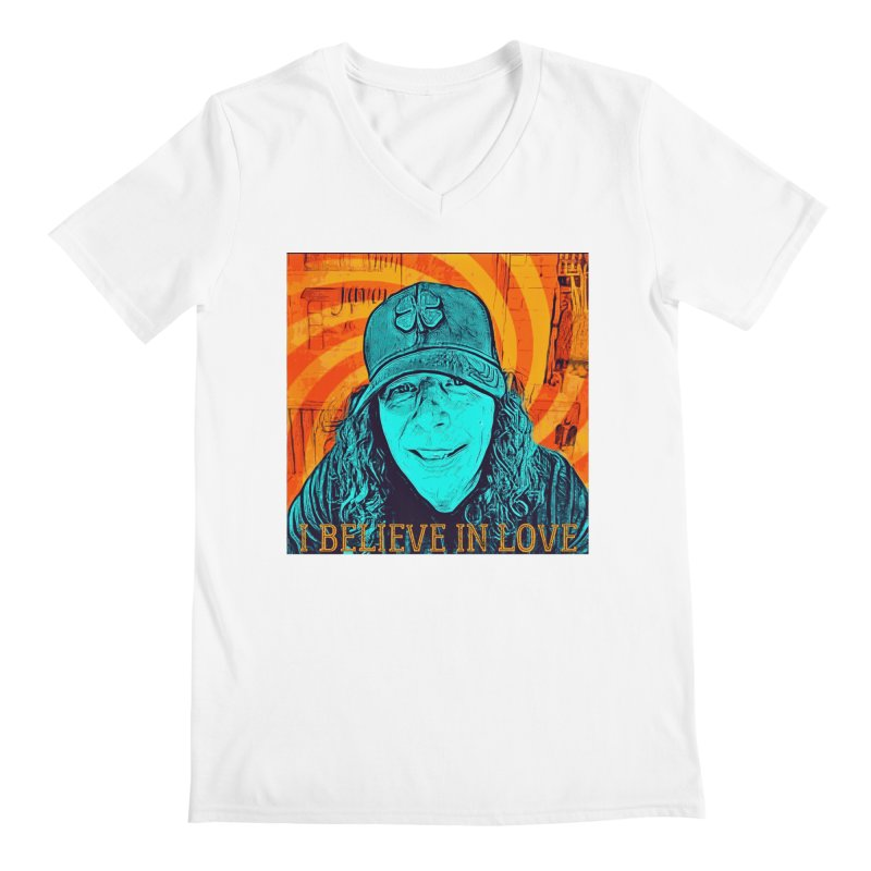 TOMMYGUNN - I BELIEVE IN LOVE - Style A Men's V-Neck by fever_int's Artist Shop