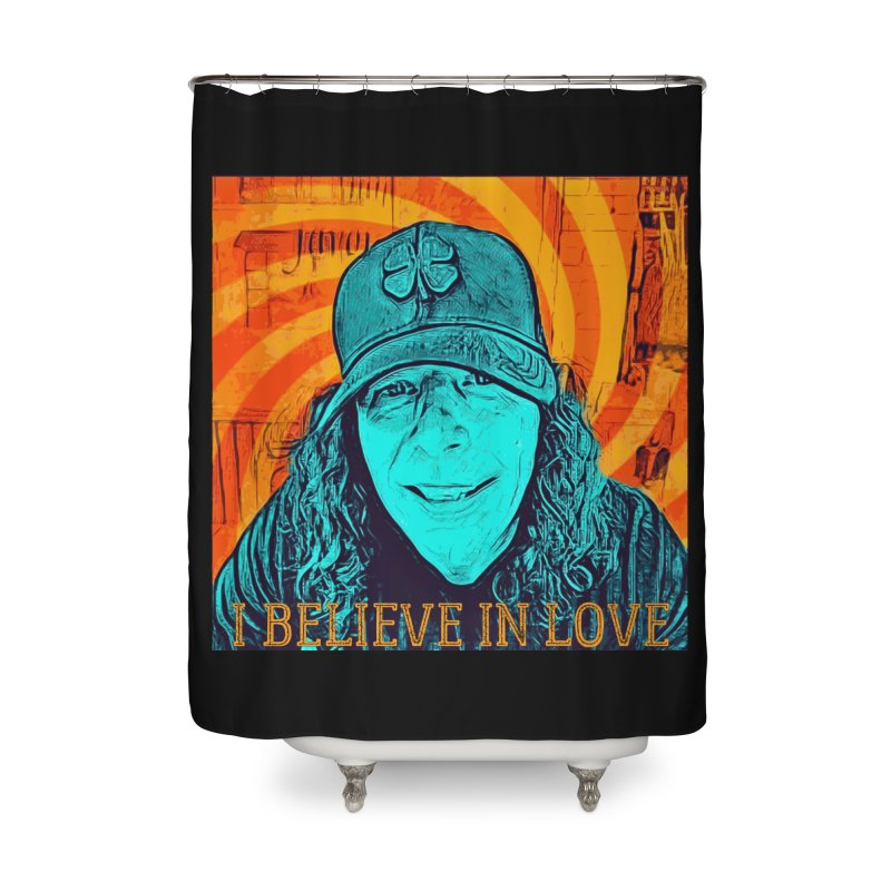 TOMMYGUNN - I BELIEVE IN LOVE - Style A Home Shower Curtain by fever_int's Artist Shop