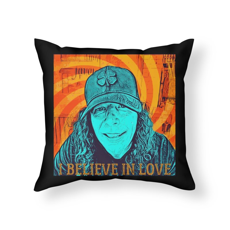 TOMMYGUNN - I BELIEVE IN LOVE - Style A Home Throw Pillow by fever_int's Artist Shop