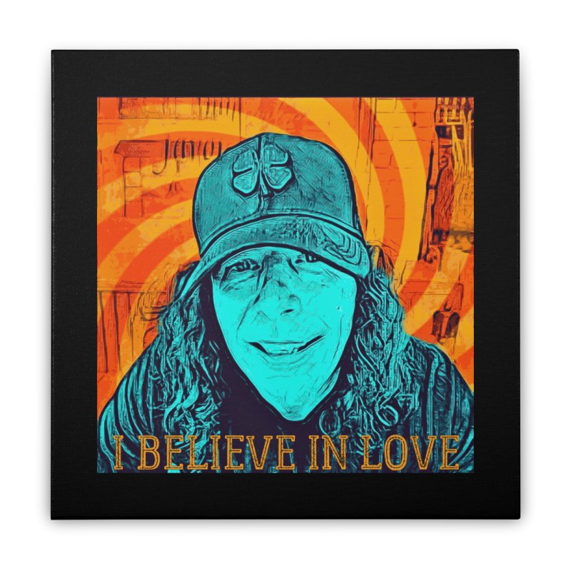 TOMMYGUNN - I BELIEVE IN LOVE - Style A Home Stretched Canvas by fever_int's Artist Shop