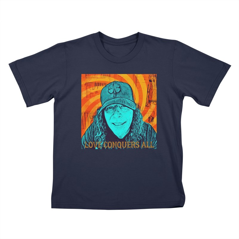 TOMMYGUNN - Love Conquers All - Style A Kids T-Shirt by fever_int's Artist Shop