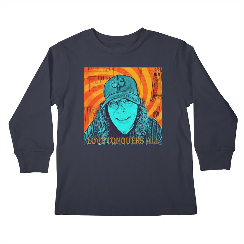 TOMMYGUNN - Love Conquers All - Style A Kids Longsleeve T-Shirt by fever_int's Artist Shop