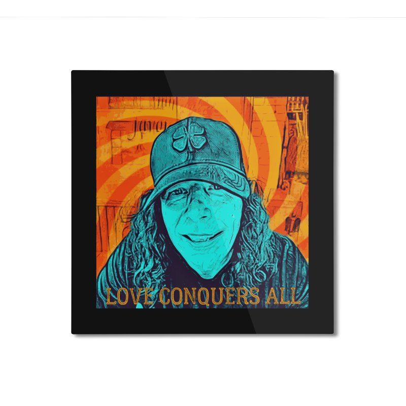 TOMMYGUNN - Love Conquers All - Style A Home Mounted Aluminum Print by fever_int's Artist Shop