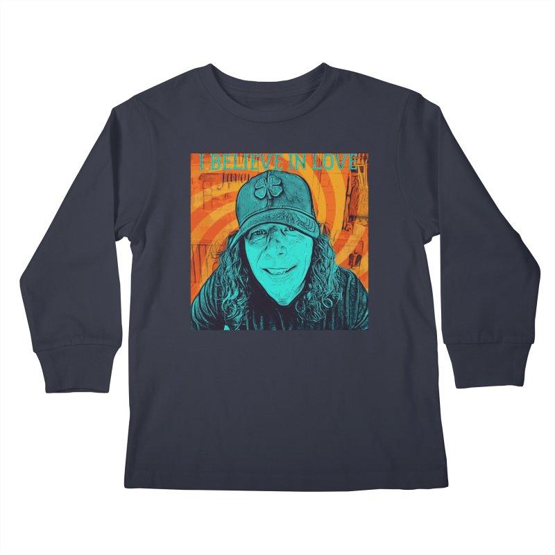 TOMMYGUNN - I Believe In Love - Style B Kids Longsleeve T-Shirt by fever_int's Artist Shop