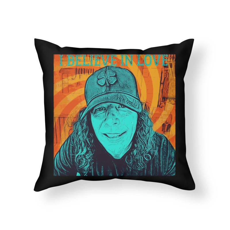 TOMMYGUNN - I Believe In Love - Style B Home Throw Pillow by fever_int's Artist Shop