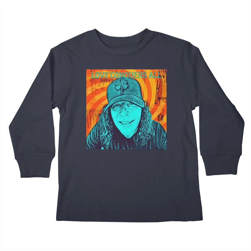 TOMMYGUNN - LOVE CONQUERS ALL - Style B Kids Longsleeve T-Shirt by fever_int's Artist Shop