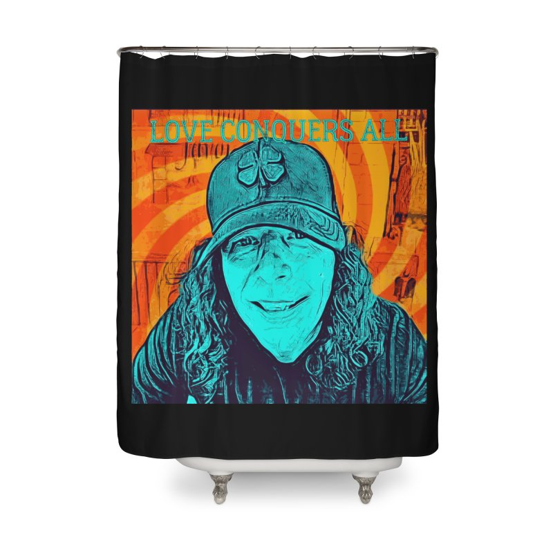 TOMMYGUNN - LOVE CONQUERS ALL - Style B Home Shower Curtain by fever_int's Artist Shop
