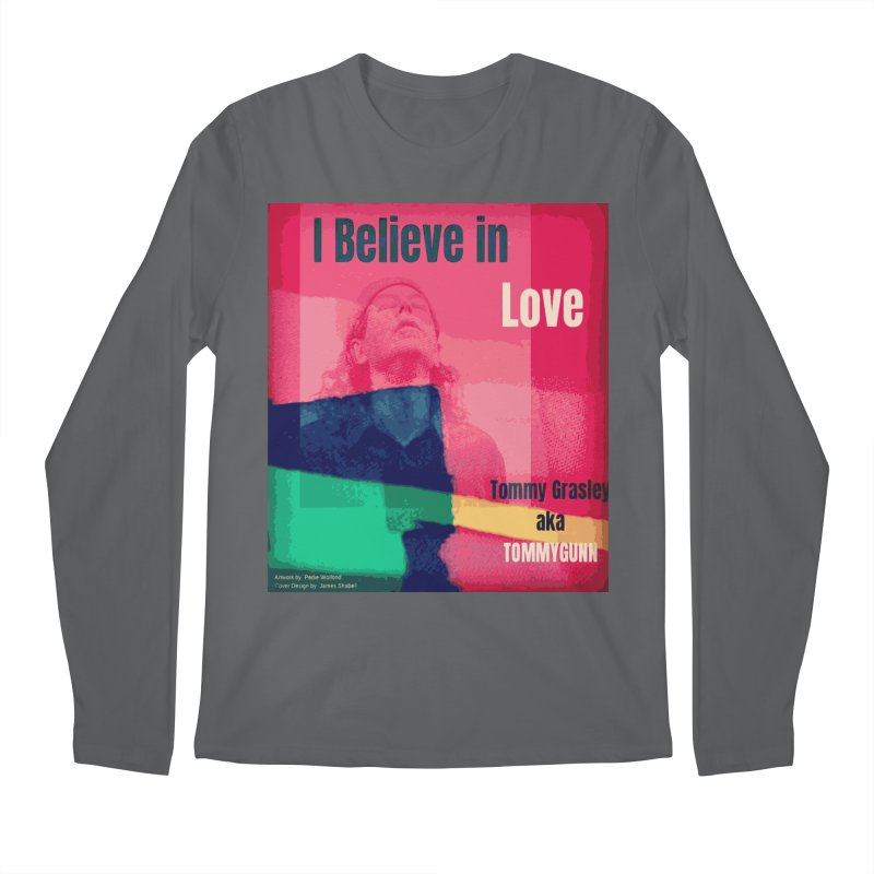 I Believe In Love Album Art - TOMMYGUNN Men's Longsleeve T-Shirt by fever_int's Artist Shop