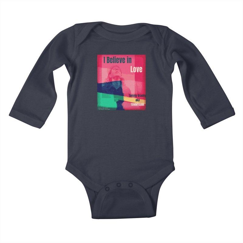 I Believe In Love Album Art - TOMMYGUNN Kids Baby Longsleeve Bodysuit by fever_int's Artist Shop