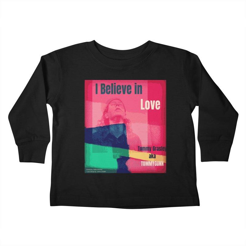 I Believe In Love Album Art - TOMMYGUNN Kids Toddler Longsleeve T-Shirt by fever_int's Artist Shop
